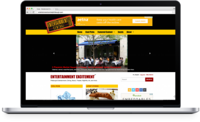 Screenshot of Entertainment Central Pittsburgh.